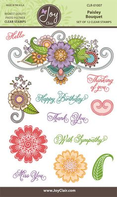 Paisley Bouquet Background Clear Stamps for Paper Crafts