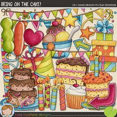 Bring on the Cake! ~ doodles http://the-lilypad.com/store/Bring-on-the-Cake-doodles.html