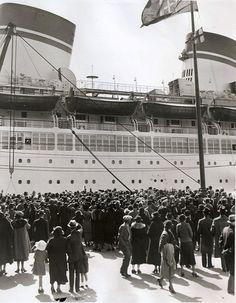 Italian Line CONTE DI SAVOIA departs New York October 5, 1935 via Todd Neitring
