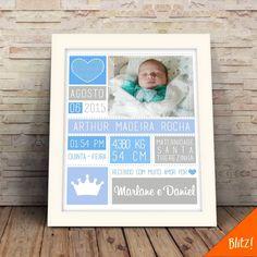 quadro de nascimento com dados do bebê