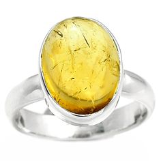 Citrine 925 Sterling Silver Ring Jewelry s.8 CTCR352