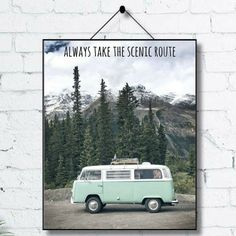 Always Take The Scenic Route-Home Decor-Office by bibbleShop
