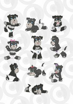 11229 vintage baby dogs in diaper dressing Schnauzer Dogs, Dog Crafts, Cartoon Dog, Baby Dogs, Furry Art, Cute Baby Animals, Illustrators, Hello Kitty, Label Stickers