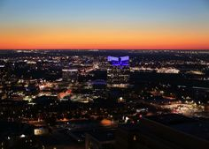 Awesome sunsetting over area of downtown Fort Worth !!