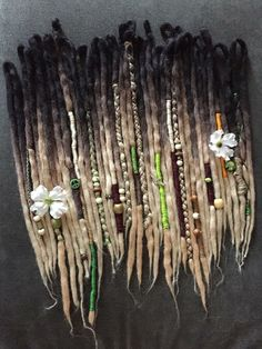 Black to blonde ombre synthetic dreadlocks by KCdreads on Etsy