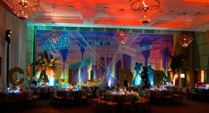 Travel Theme Bar & Bat Mitzvah Party Backdrop of Hollywood, California {H Photographers} - mazelmoments.com