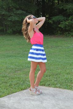 """Save 10% when you use the code """"blossom2704""""!! Serendipity Skirt-Royal at shopjulianas.com!"""
