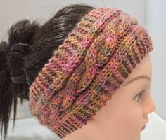 Knitted Cable Headband Hand Knitted by HalesBeeHandmade on Etsy