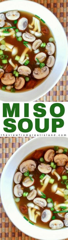 Miso Soup is the original health food, it's been nourishing the Japanese for centuries, and you can make it yourself in minutes. #soup #miso #30minutemeal healthysoup #japanese #japanesesoup #mushroomsoup #umami #easysoup #vegan #vegetarian #whole30 #paleo #appetizer #broth #soybeans