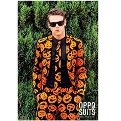 Halloween Jakkesæt | Køb jakkesæt med græskar til Halloween fest her #halloween #herremode #temafest