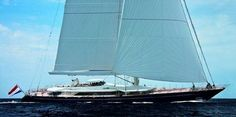 Sailing yacht Salute 183 ft with the worlds tallest aluminum mast.