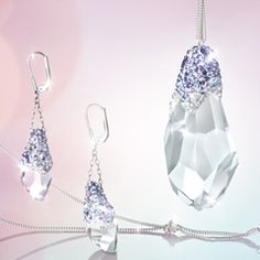 Nera Large Tanzanite Pendant and Pierced Earrings | Sweet Sixties collection spring 2012