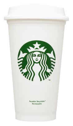 Ideas In Action Blog Starbucks reusable and recyclable cups for 1$ plus a ten cent discount everyone you use it. Only available in the Northwest.