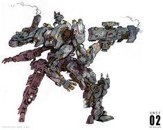 Portfolio of Concept Artist / Illustrator Emerson Tung Character Concept, Character Art, Cyberpunk, Aliens, Robot Concept Art, Robot Art, Four Arms, Cool Robots, Suit Of Armor