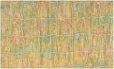 Nº11: peines en olas con mango de pincel haciendo cuadrículas