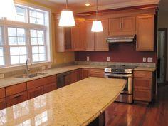 kitchen layout, narrow island
