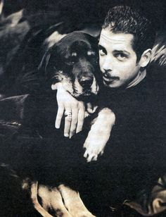 Chris Cornell and his dog Bill, Spin Magazine, 1994.