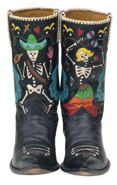 Dia de los muertos boots!