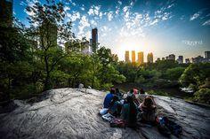Central Park est un des endroits les plus connus de New York. C'est un vrai parc, avec des arbres, un zoo, des fontaines... bref, plein de choses à voir!