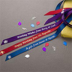 Personalized Birthday Ribbon - Birthday Cheer - 10331$33 for 50 yrds.
