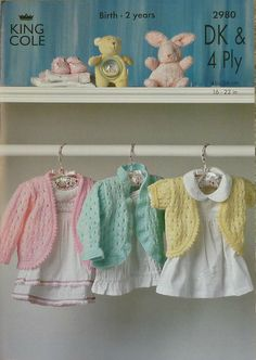 K2980 Babies Bolero Cardigans Knitting by KnittingPatterns4U