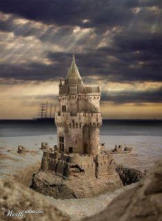 Sand Castle – Beautiful Beach Art Photos