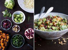 Green Kitchen Stories: http://www.greenkitchenstories.com/winter-pumpkin-millet-salad/    Aufwendig, aber unglaublich lecker! Auch noch zwei Tage später.
