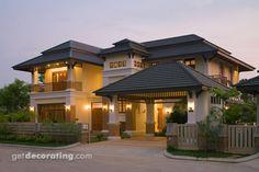 Casas de fusión asiática, Casa de fusión asiática, Diseño de casas tipo fusión asiática, diseños de fotos de casas, fotos de hogares - getdecorating.com