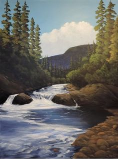 """""""Wilderness Symphony"""" painted by Warren Peterson Fine Art. Acrylic on canvas, 40"""" x 30"""""""