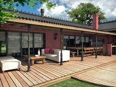 Resultado de imagen para casas estilo portugues con galeria Amazing Architecture, Contemporary Architecture, Home Interior Design, Exterior Design, Casa Mix, Country Home Exteriors, Outdoor Rooms, Outdoor Decor, Porch And Balcony