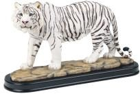 "White Siberian Tiger 12"" Collectible Wild Cat Figurine Sculpture - Free Shipping & Photon Gift"