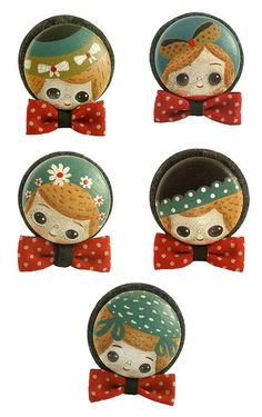 Elsa mora brooches are sooo cute. I want to make something similar with my own twist.