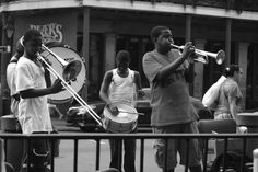 A group of teen boys playing New Orleans Jazz music on the streets of New Orleans ------  (by MusicIsLove17)