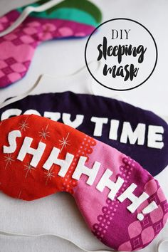 Time to get cozy with this simple 7-step DIY sleeping mask.