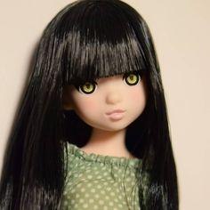 黒猫にゃん前髪長めを選んだけど...やっぱり長い... #ruruko