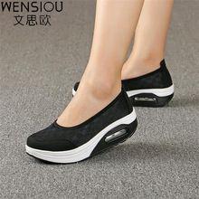 Nueva Casual mujeres zapatillas air mesh pisos de Calzado antideslizante transpirable Comodidad femenina zapato zapatos calzado 2017 7-DT938 cotidiana de Las Mujeres