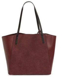 e650c5d57f Bp. Colorblock Faux Leather Tote - Burgundy  24.99