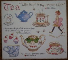 Susan Branch Stickers Tea Time