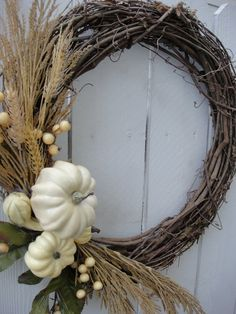 Autumns Harvest Wreath Autumn Wreath Elegant by donnahubbard