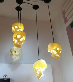 skulls pendant light