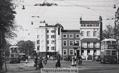 Old Steine, looking north, in the trolley bus days, in 1957