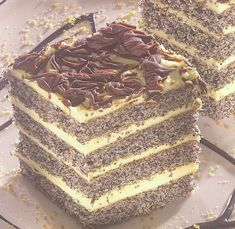 Poppy Cake, Vanilla Cake, Tiramisu, Breakfast Recipes, Food And Drink, Sweets, Bread, Cooking, Ethnic Recipes