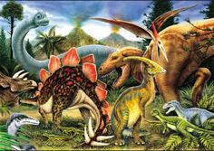 Dinosaurs Junior Paint By Number Kit - x These cute and simple painting kits are perfect for the beginning painters and artists. This kit… Dinosaur Songs, Dinosaur Jr, Dinosaur Photo, Dinosaur Videos, Pictures Of Fossils, Paint By Number Kits, Craft Club, Wooden Puzzles, Jurassic Park