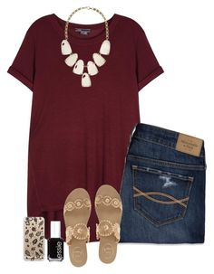 """""""Cause It's Too Cooooollldd For You Here"""" by hailstails ❤ liked on Polyvore featuring Vince, Jack Rogers, Abercrombie & Fitch, Kendra Scott, Essie and Casetify"""