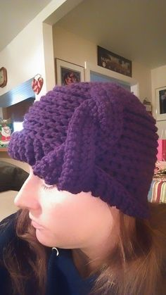 Purple Hat by ChainedWithLuv on Etsy