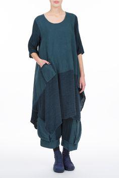 Linen and Silk Flared Dress - GrizasGrizas