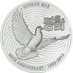 1 Dollar Silber 60 Jahre Ende des Koreakriegs PP