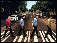 Kirk, Spock, Bones, and Scotty - The new Bones is insufferable, don't you think? (Star Trek Abbey Road by Rabittooth on deviantART)