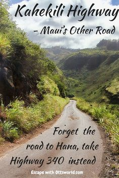 Forget the Road to Hana, take Highway 340 (also known as Maui's West Highway or Kahekili Highway) instead! The drive itself can be done in a couple of hours without stops. In order to really appreciate the views, however, it will take you between four and five hours. Take your time, explore, eat lunch, enjoy some banana bread, take home some preserves and soak in the views and the people you meet along the way.