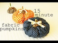 These cute fabric pumpkins are perfect for autumn decorating, and can be made in fifteen minutes. A fabric pumpkin is a great way to spice up fall decor. Fun Diy Crafts, Fall Crafts, Holiday Crafts, Crafts For Kids, Holiday Ideas, Kids Diy, Diy Pumpkin, Pumpkin Crafts, Fabric Pumpkins